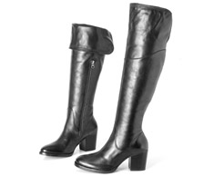 Bota Cano longo Preto Over The Knee 107271