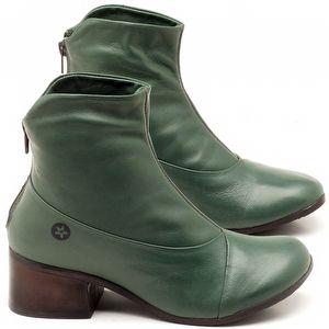 Bota Cano Curto em couro verde militar - Código - 137161
