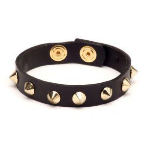 Feminino - Braceletes Preto Spikes 134001