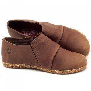 Flat Shoes em couro Telha - Código - 137153