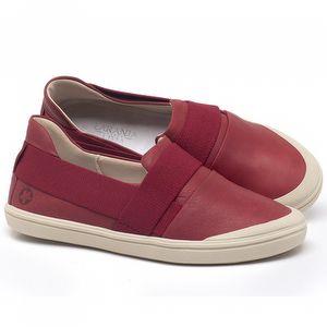 Tênis Cano Baixo em couro Vermelho - Código - 56198