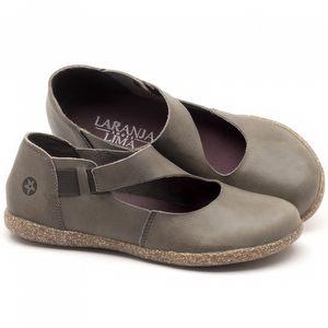 Flat Shoes em couro Cinza - Código - 137167