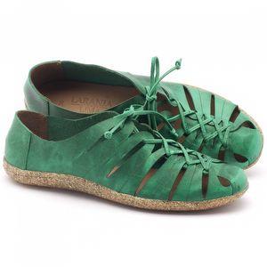 Tênis Cano Baixo em couro verde - Código - 145009