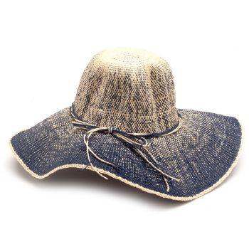 22b6ad1f861ca Feminino - Chapéus Azul com Palha Laço 118032