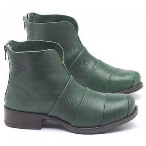 Bota Cano Curto em couro Verde Militar - Código - 141079