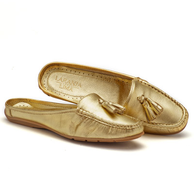 Dockside Confortável Ouro Mule 116004