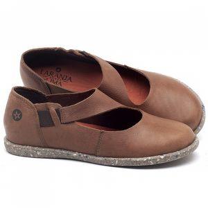 Flat Shoes em couro Marrom Tan - Código - 137222