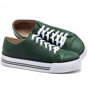 Tênis Cano Baixo em couro Verde Bandeira - Código - 9446