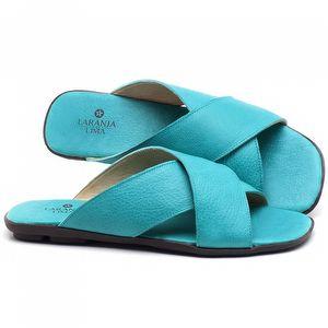 Rasteira Flat em cou Azul Piscina - Código - 9458