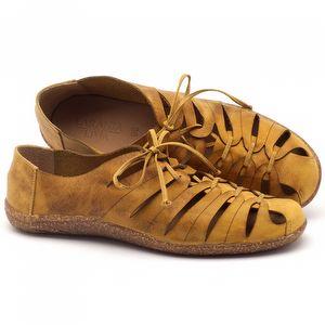 Tênis Cano Baixo em couro amarelo - Código - 145009