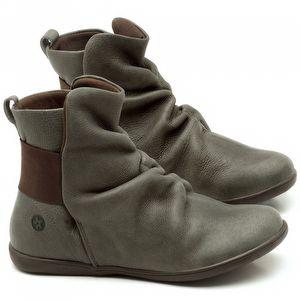 Flat Boot em couro Musgo - Código - 137171