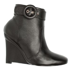 Ankle Boot Stand By preto fivela na altura do cano 102020