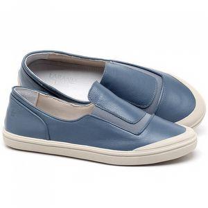Tênis Cano Baixo em couro Azul Claro - Código - 56199