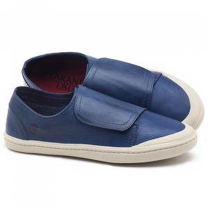 Tênis Cano Baixo em couro azul - CÓDIGO - 141081