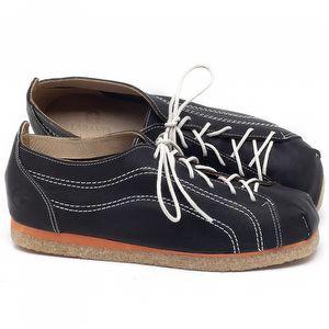 Flat Shoes em couro Preto - Código - 3060