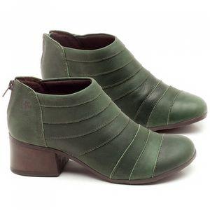 Bota Cano Curto em couro Verde Militar - Código - 137162