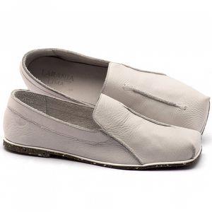 Linhas Flat em couro branco - Código - 145003