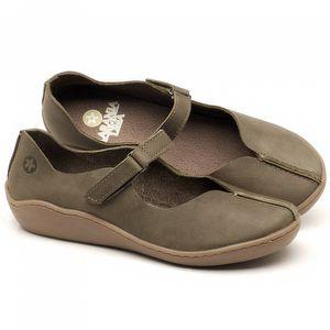 Flat Shoes em couro Musgo - Código - 139023