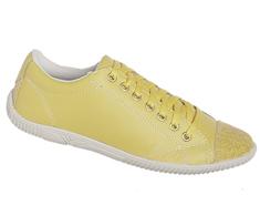 Tênis Cano Baixo Amarelo Bico e traseira em camurça escovada 99004