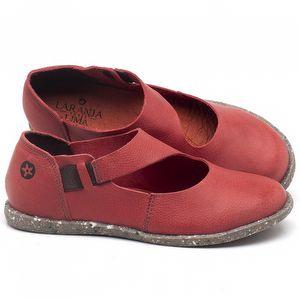 Flat Shoes em couro Vermelho Coral - Código - 137222