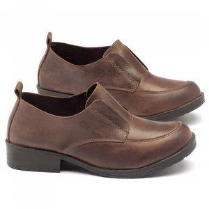 Sapato Retro Estilo Boho-Chic em couro com salto de 3cm - Código - 137098