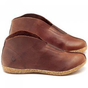 Flat Boot em couro Marrom - Código - 137154