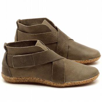 Flat Boot em couro Musgo - Código - 145032