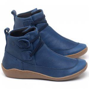 Tênis Cano Alto em couro Azul - Código - 139029