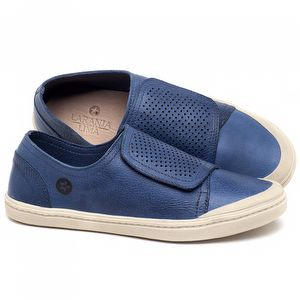 Tênis Cano Baixo em couro Azul - Código - 141151