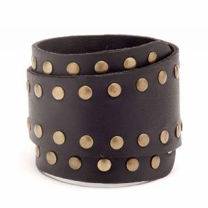 Feminino - Braceletes Preto Rebites 134003