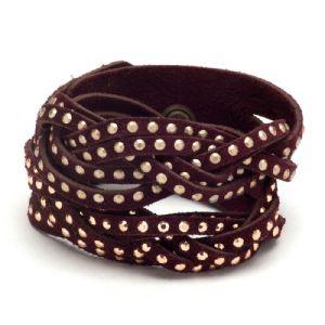 Feminino - Braceletes Vinho Hotfix 134007