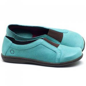 Flat Shoes em couro Azul Piscina - Código - 56087