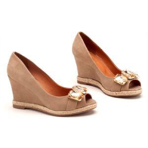 Sandálias em CORDA Top Creme Pedras e Corda 123012