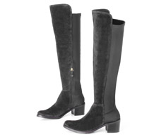 Bota Cano longo Preto Over The Knee 107254