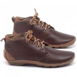 Flat Boot em couro Marrom Telha - Código - 136095