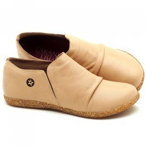 Flat Shoes em couro Bege - Código - 137153