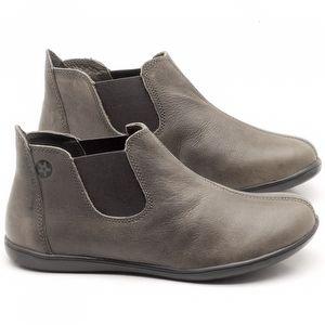 Flat Boot em couroc Cinza - Código - 137166