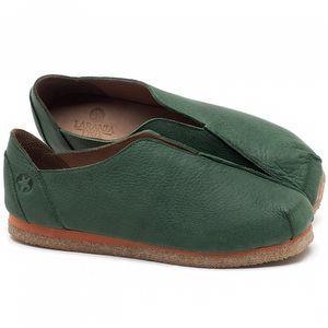 Flat Shoes em couro Verde Militar - Código - 3050