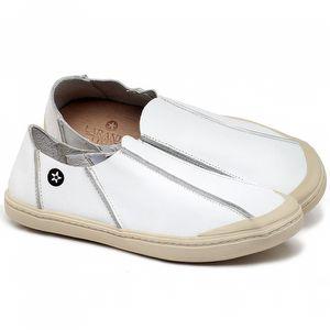 Tênis Cano Baixo em couro Branco - Código - 141148