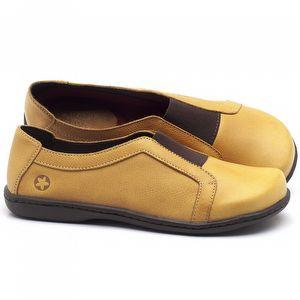 Flat Shoes em couro Amarelo - Código - 56087