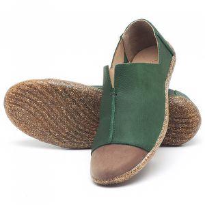 Flat Shoes em couro Verde - Código - 145025