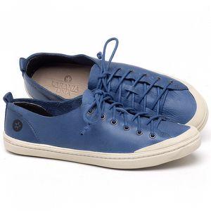Tênis Cano Baixo em couro Azul - Código - 141112