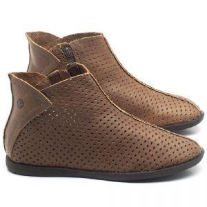 Flat Boot em couro tan - CÓDIGO - 137236