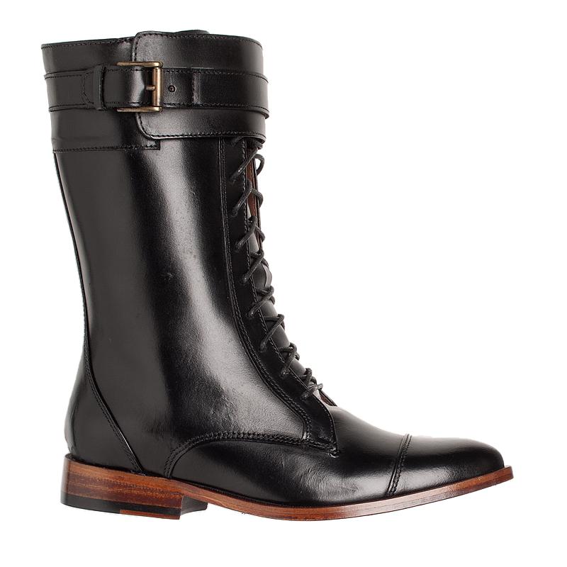 fc312c9c4 Bota Coturno Preto Cadarço e fivela 100020 | Laranja Lima Shoes