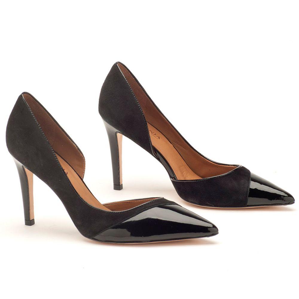 2b1c4e3c1 Scarpin Bico Fechado Salto Alto Preto 10 cm 107241 | Laranja Lima Shoes