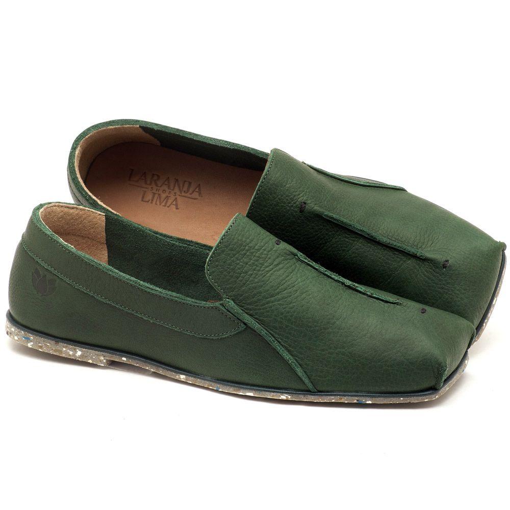3a986a67f30 Sapatilha Alternativa em couro verde militar - Código - 145003 ...