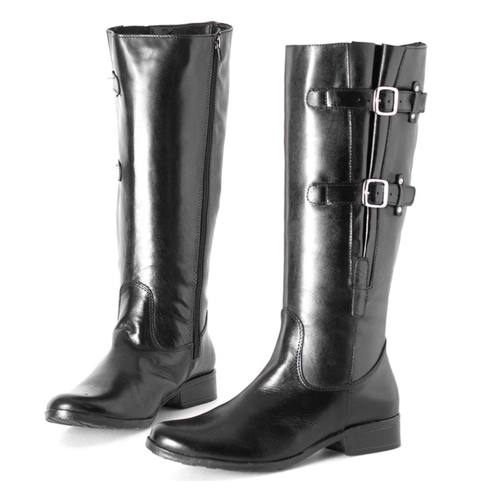 ea4cfd5444 Bota Cano longo Preto Ajuste 106016 | Laranja Lima Shoes