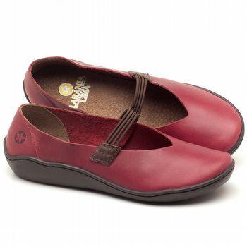 Tênis Cano Baixo em couro Vermelho - Código - 139026
