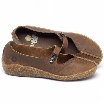 Flat Shoes em couro Caramelo - Código - 139033