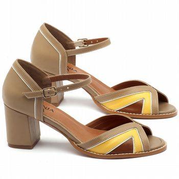 Sandália Salto médio de 6cm - Código - 3503